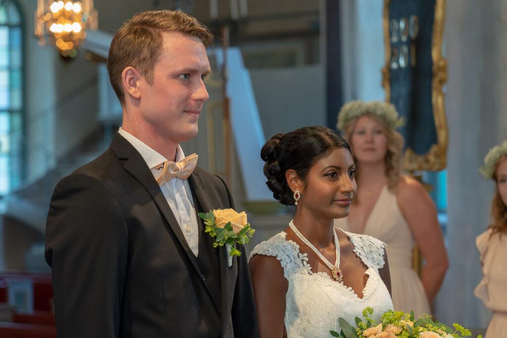 Brud och brudgum i Grava kyrka Karlstad